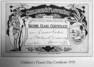 Children's Flower Day Certificate 1918
