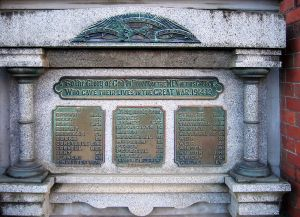 Neil St Methodist Church WW1 Memorial