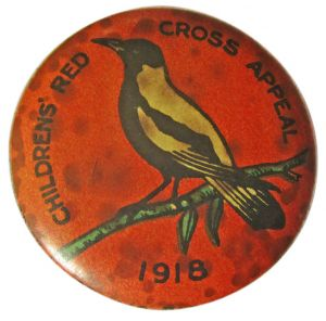 Red Cross Button 1918