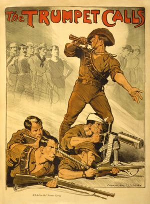 The Trumpet Calls - 1918 recruitment poster