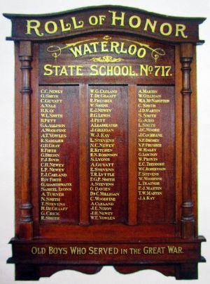 Waterloo SS Honor Roll