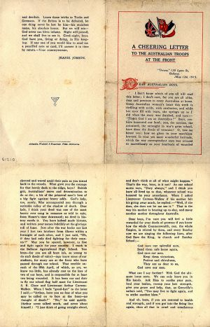Miss Jeannie Jobson Letter 1915